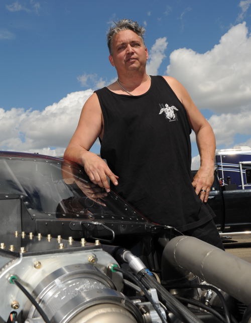 """After a long absence -- """"Ricky D"""" returned to Pro Mod class racing during 2015."""