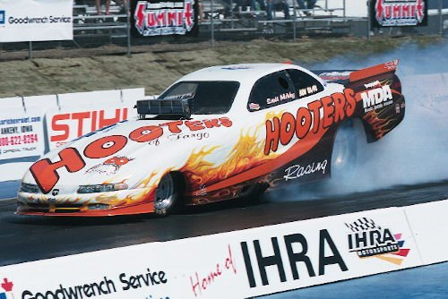 Early in his career McVey raced this Dodge Avenger bodied car.