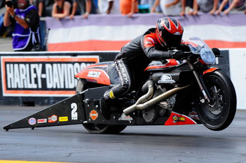 Eddie Krawiec earned his 4th career win at Gainesville in Pro Stock Motorcycle