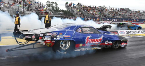 Manitoba's Kenny Lang was the only Canadian car to crack the Pro Mod field.  He lost out to Jonathan Gray's record shattering ET in round #1.