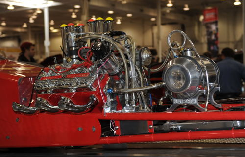 Cool flathead dragster from the past!