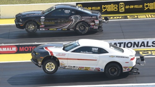 David Barton (driving a new Camaro) out ran Chris Holbrook's Mustang for the event's prestigious Factory Showdown title.
