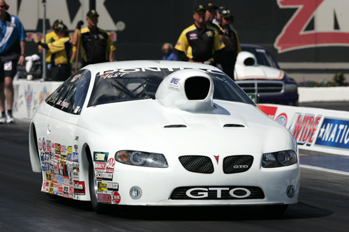 Luc Angiers' cool Laval PQ based GTO was entered in Top Sportsman - Luc bowed out early in competition however.