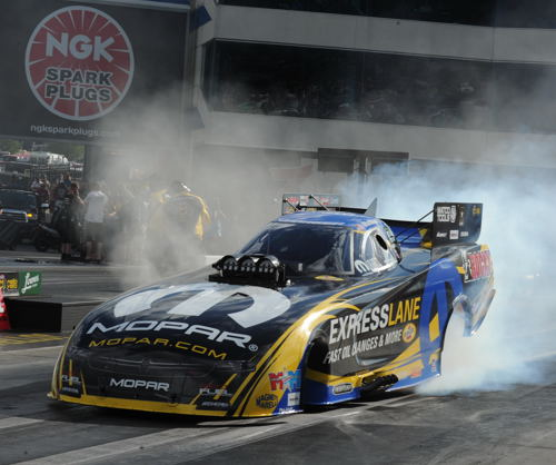 Matt Hagan set low ET and a track record while qualifying #1 in Funny Car