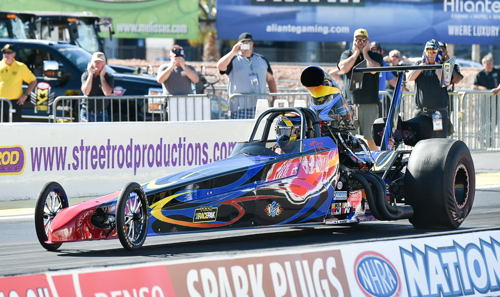 "Canada's Trevor Richie went to the ""final four"" in Top Dragster class racing"