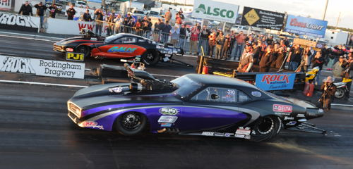 Canadian Melanie Salemi (near lane) made the Pro Boost final - but lost out to Rivenbark's Corvette.