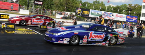 Jason Line and his teammate Greg Anderson continued their season domination of Pro Stock racing Atlanta.