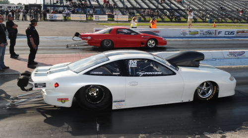 Racing an ex Pro Stock Chevy Cavalier - Tony Pontieri claimed the first ever USDRS Outlaw 10.5 title.