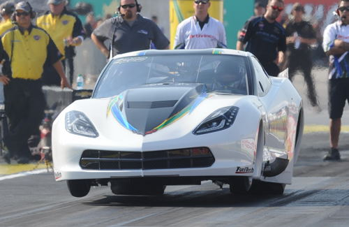 Brazil's Sidnei Friego was involved in a very violent top end crash which destroyed his C7 Pro Mod during qualifying.