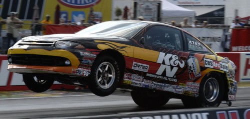 Home state racer Tommy Phillips won Super Stock racing his Chevy Cavalier.