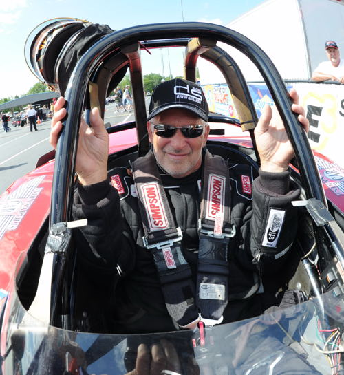 For the 2nd NHRA national event in a row - David Rampy won in Competition eliminator.
