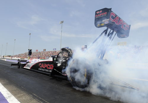 Homestate racer Steve Torrence was runner-up in Top Fuel
