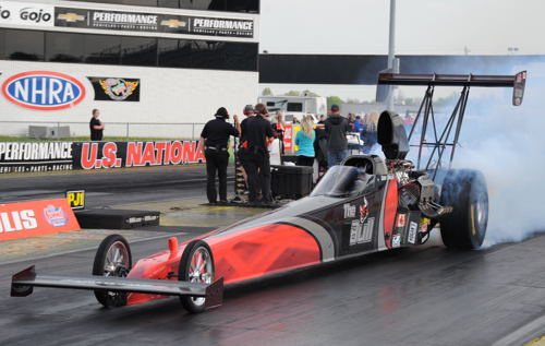 "Gord Gingles guided ""The Bull"" to yet another NHRA TA final round."