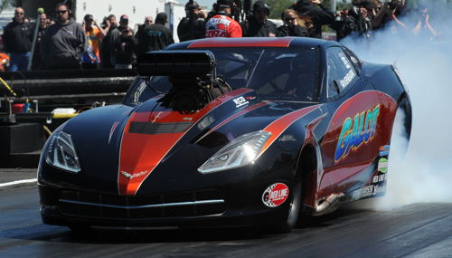 Kevin Rivenbark has an undefeated season going with his C7 in PDRA Pro Boost class racing/