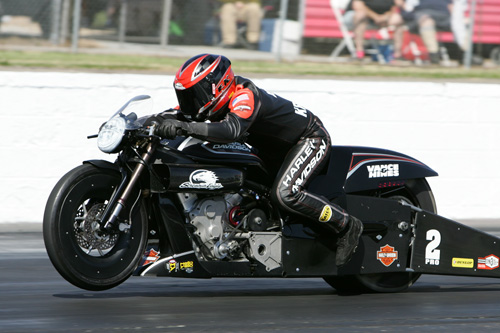 Eddie Krawiec won in Pro Stock Motorcycle