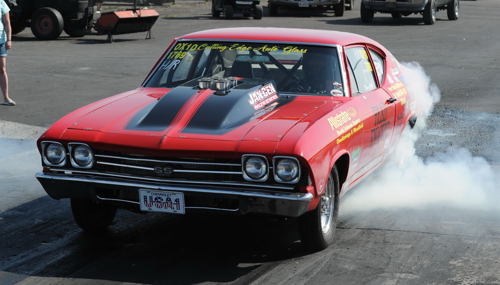 "We really liked this neat ""Hilborn injected"" 10.90 HR Chevelle raced by New Yorks's Ron Dalessandro!"