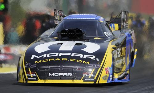 Matt Hagan's Mopar demolished both ends of NHRA fuel FC record at 3.862 secs and 335.37 mph!