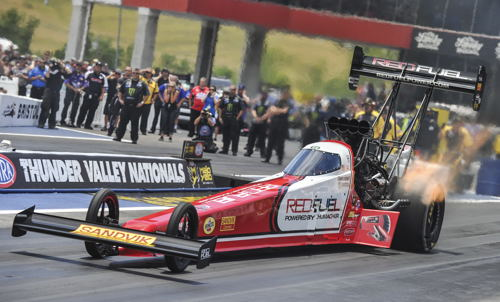 Shawn Langdon (also driving for DSR) earned his 12th career win in Top Fuel