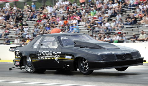 Cedric Beaulieu qualified his awesome turbocharged LeBaron #2 in TS at 6.492 secs.
