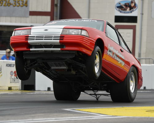 Quebec's Louis Gill qualified his high flying '92 Cavalier #6 in Super Stock at (-.978).