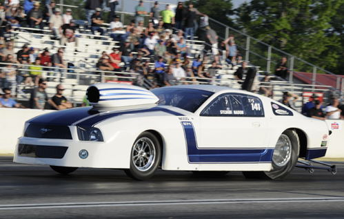 Sylvain Nadon's Laval PQ based Mustang qualified #5 in Top Sportsman.