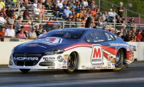 Allen Johnson had his best run of the season so far in Pro Stock - going to the final round in the Marathon Petroleum Dodge