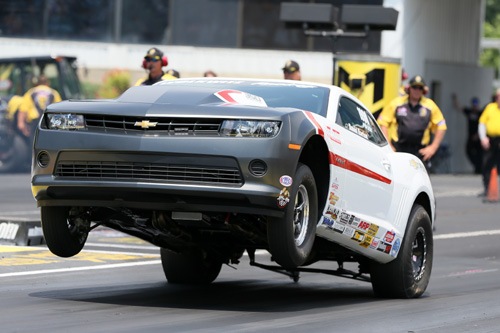 David Barton won his second NHRA Factory Showdown title of the season in his COPO