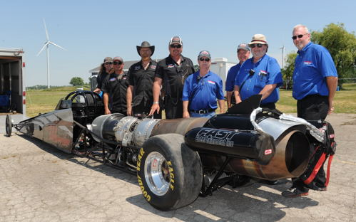 Got Certification? -- Finally Cayuga Dragway's Track Manager Neale Armstrong can say yes! That final step happened during the recent NHRA National Open at Cayuga when NHRA Division One tech signed off of Neale's much anticipated Northern Warrior Jet Car. It is possible that this new machine (built by LJ Race Cars) may see action as soon as this weekend.