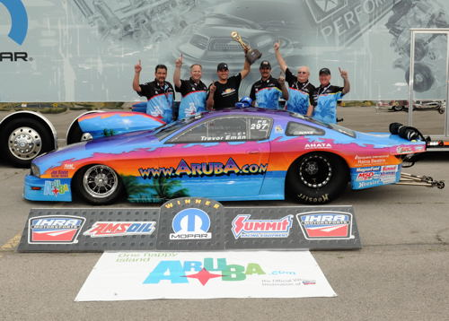 Trevor Eman collected a much overdue first ever IHRA Pro Stock win.