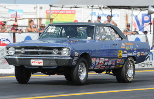 Michael McGrath wheeled his I/CM '68 Dart to the Stock title in Sunday's Pro-AM program.