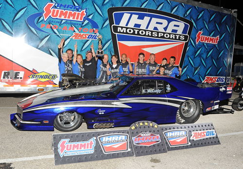 Kevin McCurdy earned his first career IHRA national event win at MIR last.