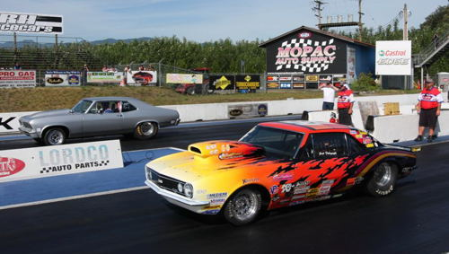 Mission's Martin Jackman (far lane) won the Super Street title.