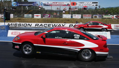 Red Deer's Byron Setters lined up opposite his daughter Caitlin in Round 2 of Super Stock - with Caitlin scoring the victory.