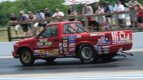 Not in my back yard! Local racer Chuck Nagy won the inaugural CDRHOF Stock/Super Stock Shootout on Saturday.