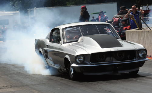 Frank Pompilio's Mustang was dominate while winning at the PDRA's Summer Nationals in Michigan.