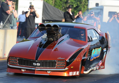 John Strickland's supercharged Camaro was convincing in Pro Boost racing.