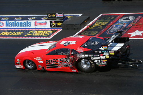 In just his 2nd NHRA event start driving a turbocharged car - Billy Glidden scored victory.