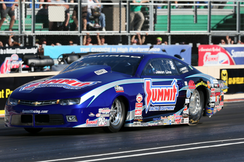 Jason Line - kept the unreal undefeated racing season for the Summit Racing Equipment Chevy Pro Stock team.