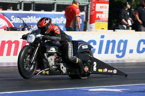 Eddie Krawiec scored his 3rd win of the season in Pro Stock Motorcycle.