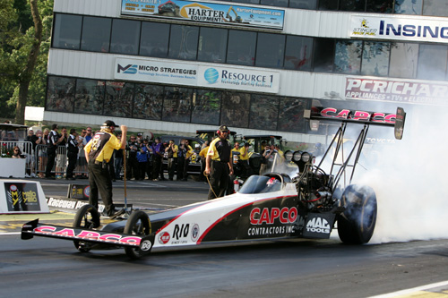 Steve Torrence's 2nd Top Fuel win of the season puts him into 3rd in NHRA points.