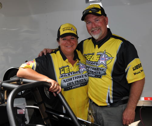 Alberta's Kelly and Trevor Ritchie races in the Jegs All Stars event for the first time.
