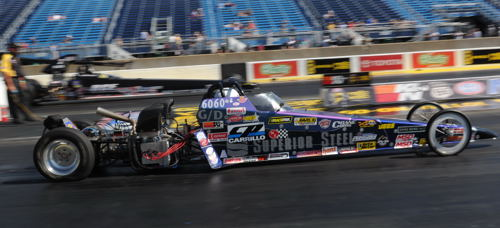 Brian Hyerstay wheeled his unique VW powered dragster to a win in Comp