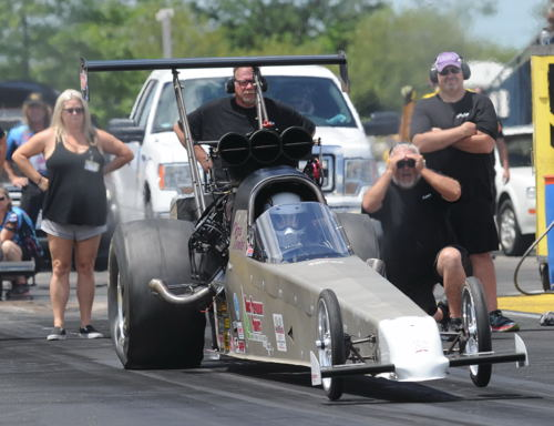 Racing his new TAD - Chris Demke scored convincingly in the Jegs All Stars event.
