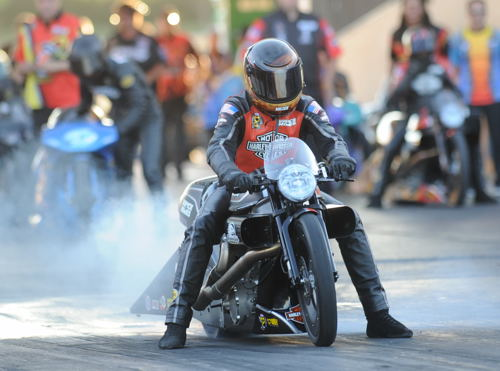 Andrew Hines won for the 44th time in Pro Stock Motorcycle!