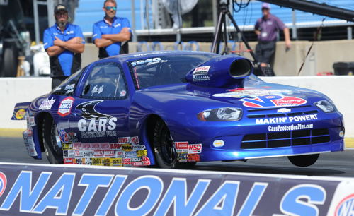 Fast rising Lady Racer Mia Tedesco won in Super Gas with her Chevy Cavalier