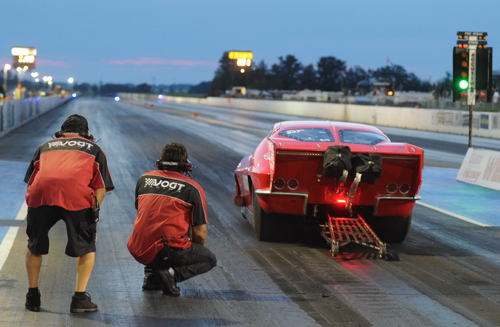 Regina-based Vogt Brothers entered their nitrous-injected Pro Mod Corvette in the WDRL sanctioned event.