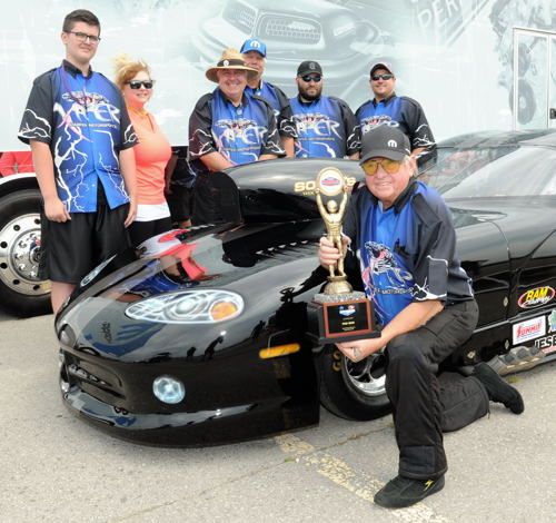 Racing his Viper - Harper has now won two IHRA circuit Pro Mod events this season.