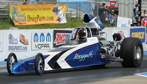 Travis Ringguth (from Edmonton) defeated a 30+ car field in Top Dragster in Saturday's Pro-Am event