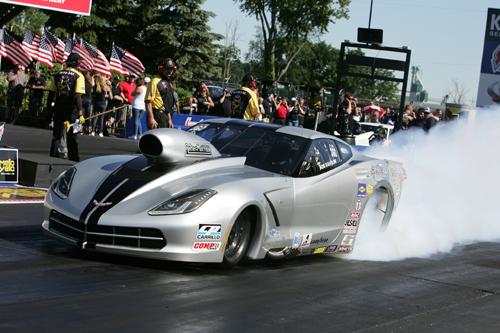 Bob Rahaim set low ET at 5.828 secs while qualifying #1