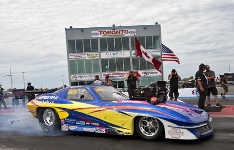 Robbie Atchison was the #1 qualifier in Pro Mod - but lost out in round #1 of eliminations.